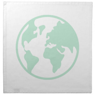 Tierra del planeta servilletas imprimidas