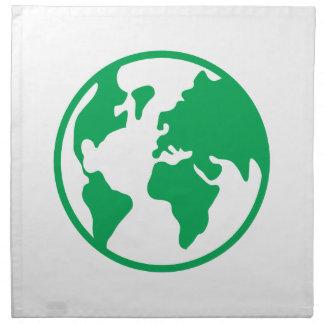 Tierra del planeta servilletas