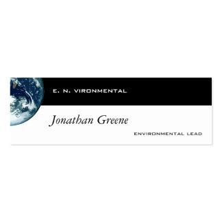 Tierra del planeta tarjetas personales