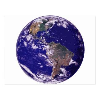 Tierra del planeta postales
