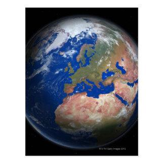 Tierra del planeta tarjeta postal