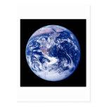 Tierra del planeta tarjetas postales