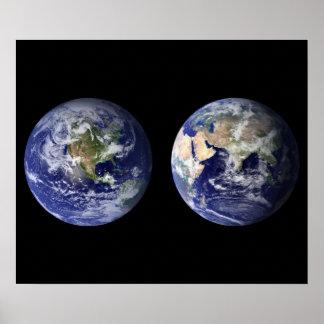 Tierra del poster del espacio exterior