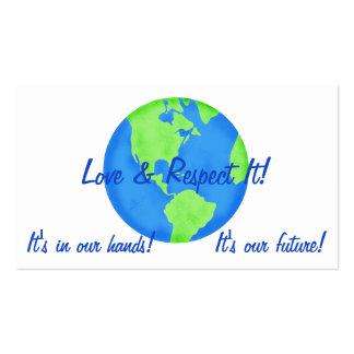 Tierra del respecto del amor, sus nuestras plantilla de tarjeta personal