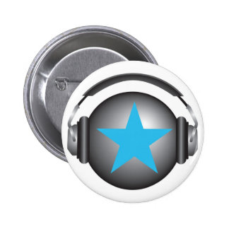 tierra del ricorox de DJ con los auriculares Pin Redondo De 2 Pulgadas