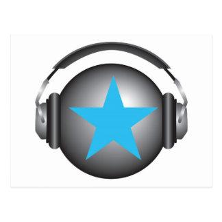 tierra del ricorox de DJ con los auriculares Postales