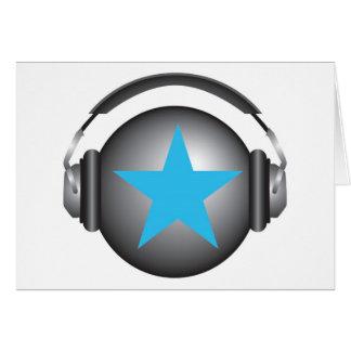 tierra del ricorox de DJ con los auriculares Tarjeta De Felicitación