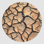 tierra del suelo seco/de la grieta pegatina redonda