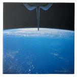Tierra del transbordador espacial azulejo cuadrado grande