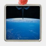 Tierra del transbordador espacial ornamentos de navidad