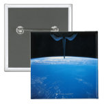 Tierra del transbordador espacial pin cuadrado