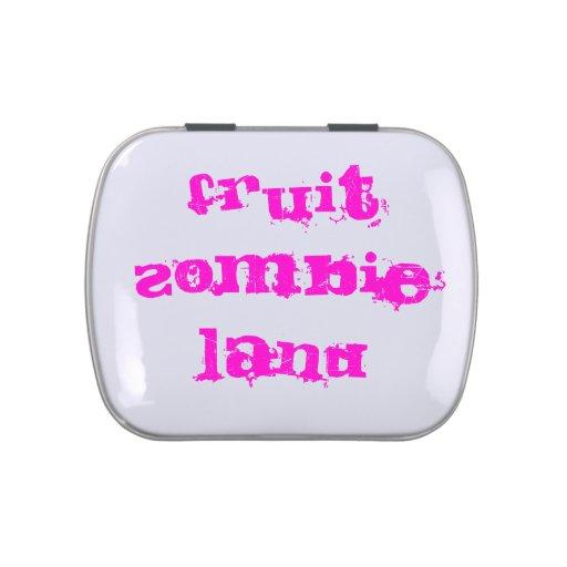 Tierra del zombi de la fruta jarrones de dulces