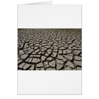 Tierra desecada tarjeta de felicitación