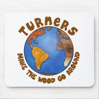 Tierra divertida de Woodturning del globo de los t Mouse Pads