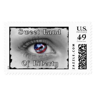 Tierra dulce de la libertad sellos