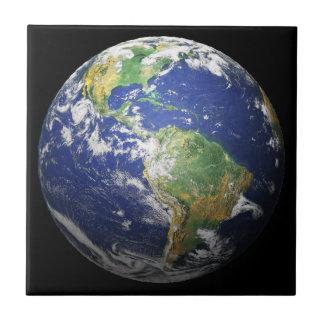 Tierra - efecto 3d azulejo cuadrado pequeño