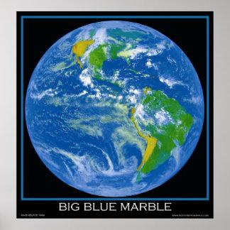 Tierra - el mármol azul grande - posters del espac