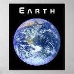 Tierra - el mármol azul poster