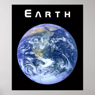 Tierra - el mármol azul póster