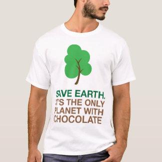 Tierra, el único planeta con el chocolate playera