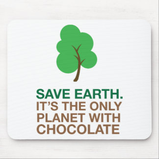 Tierra, el único planeta con el chocolate tapete de ratón