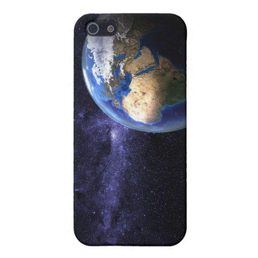 Tierra en caso del iPhone 4 del espacio iPhone 5 Fundas