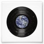 Tierra en el expediente de LP del vinilo del espac Impresion Fotografica