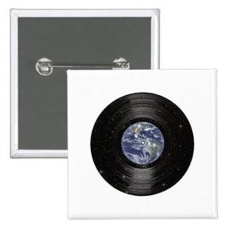 Tierra en el expediente de LP del vinilo del espac Pins