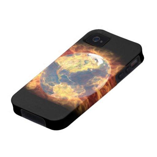 tierra en el fuego carcasa iPhone 4