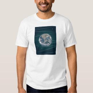Tierra en espacio camisas