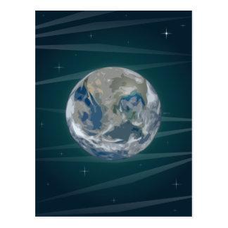 Tierra en espacio tarjetas postales