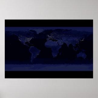 Tierra en la noche 78x52 (55x37) posters