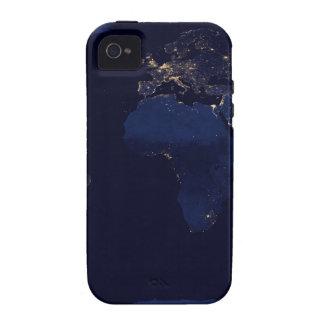 Tierra en la noche iPhone 4 carcasa