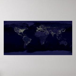 Tierra en la noche póster