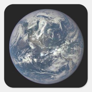 Tierra, espacio, América Pegatina Cuadrada