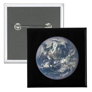 Tierra, espacio, América Pin Cuadrado
