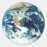 Tierra Etiquetas Redondas