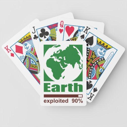 Tierra: explotado - baraja cartas de poker
