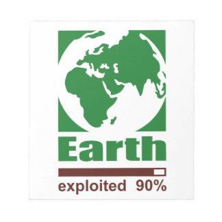 Tierra: explotado - libreta para notas