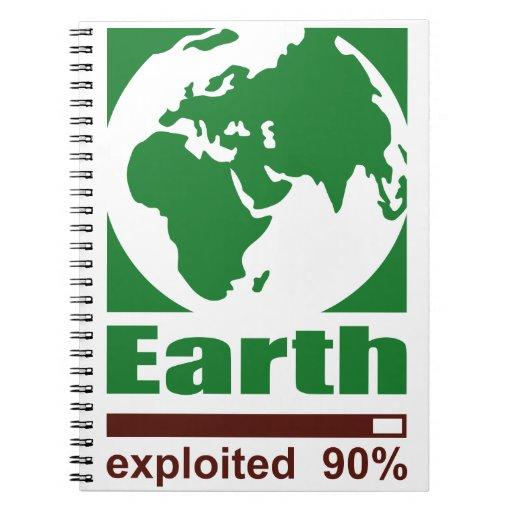 Tierra: explotado - libreta espiral