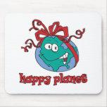 Tierra feliz del planeta tapetes de ratón