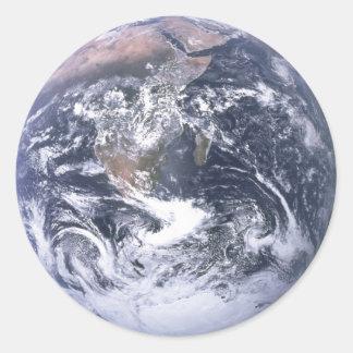 Tierra - foto de Apolo 17 Pegatina Redonda