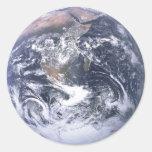 Tierra - foto de Apolo 17 Pegatinas Redondas