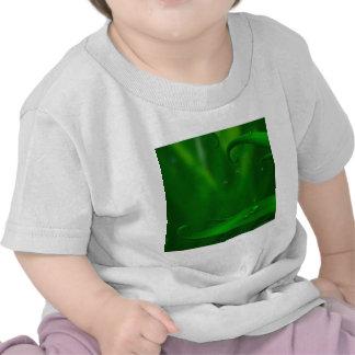 Tierra fresca abstracta de arañas verdes camisetas