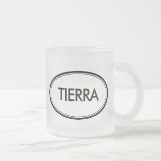 Tierra Frosted Glass Coffee Mug