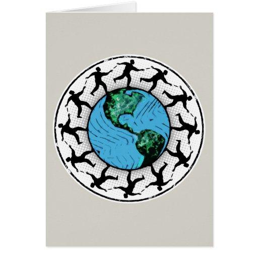 Tierra Golfing del planeta del disco Tarjeton