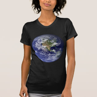 Tierra - hemisferio occidental camiseta