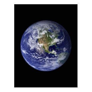 Tierra - hemisferio occidental postal