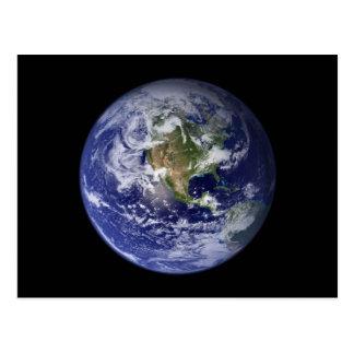 Tierra - hemisferio occidental postales