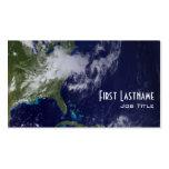 Tierra - hemisferio occidental tarjeta de visita